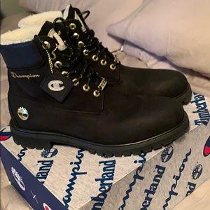 Timberland x Champion boots